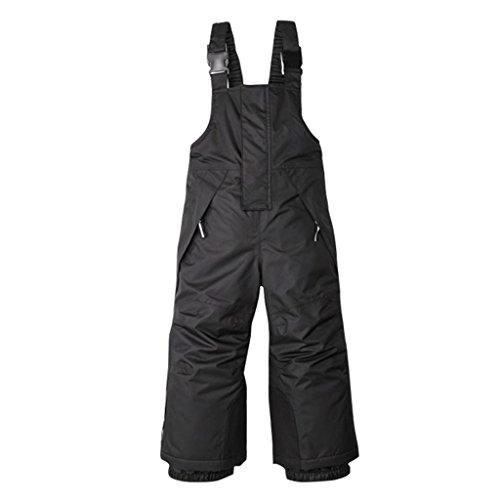 Sundwsports Pantaloni da Sci con Bretelle per Bambini Tuta da Neve Impermeabile per Gli Sport Invernali