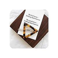 日本スタイルのAcアクリルヘアクリップ幾何学的なラウンドヘアピンヒョウハート形女性ヘアアクセサリーバレット、05