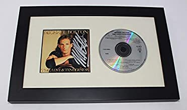 Michael Bolton Time, Love & Tenderness Signed Autographed Music Cd Cover Compact Disc Framed Display Loa