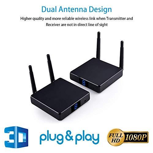 Measy FHD686 HDMI-Konverter, 200 m, kabellos, HDMI-Transmitter-Empfänger, kabellos, HDMI-Verlängerung, kabellos, mit IR-PassThrough-Unterstützung, 1080P 3D