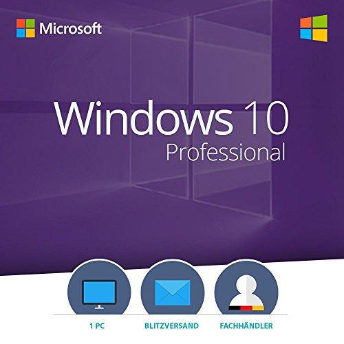 MS Windows 10 Professional 32 bit & 64 bit Vollversion Multilingual - Original Lizenzschlüssel per E-Mail - Versand max. 60Min