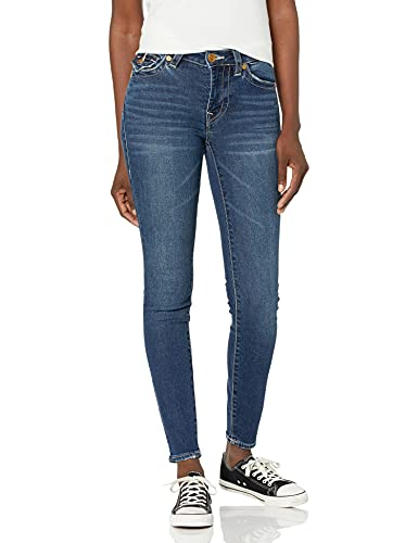 True Religion Women's Halle Mid Rise Super Skinny Fit Jean, Night Cap, 28