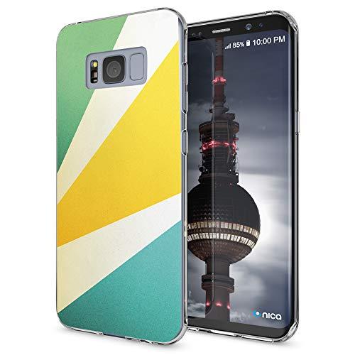 NALIA Funda Carcasa Compatible con Samsung Galaxy S8, Motivo Design Movil Protectora Ultra-Fina Silicona Cubierta, Goma Gel Estuche Telefono Bumper Ligera Cover Case, Designs:Retro