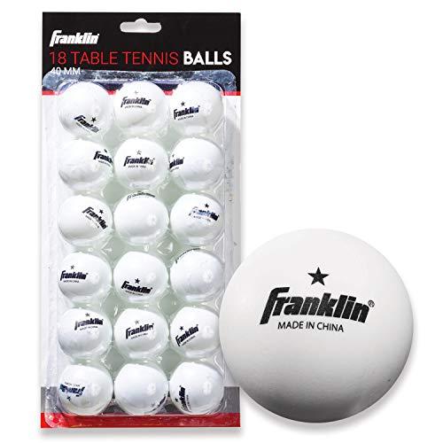 Franklin Sports Bolas de tênis de mesa – Tamanho e peso oficiais de bolas de tênis de mesa de 40 mm – Bolas profissionais de uma estrela