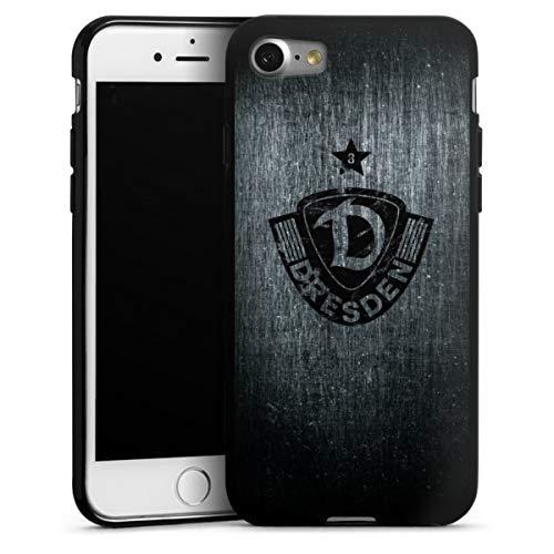 Silikon Hülle kompatibel mit Apple iPhone 8 Case schwarz Handyhülle SG Dynamo Dresden Offizielles Lizenzprodukt Vintage