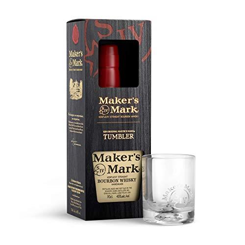 Maker's Mark Bourbon Whiskey + 1 Tumbler (1 x 0.7 l)