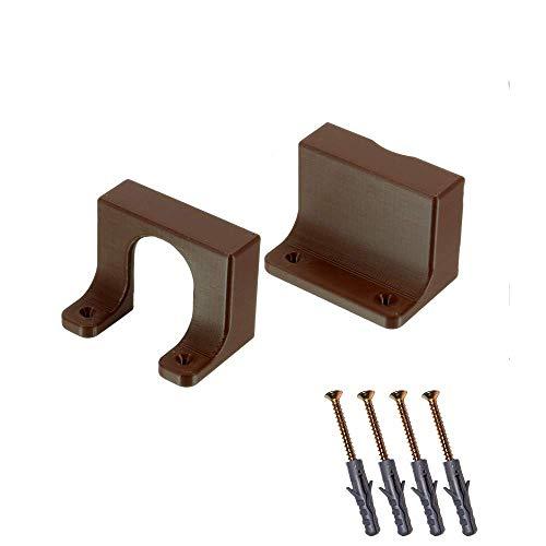Steckdosenleiste Halterung für IKEA Koppla - Mehrfachsteckdose Wandhalter Braun