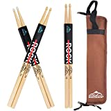 EASTROCK Drum Sticks Set Includes 5A/5B Maple Drum Sticks, Portable Drum Backpack for Students and...