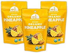 Mavuno Harvest Direct Trade Organic Dried Fruit, Pineapple, 3 Count