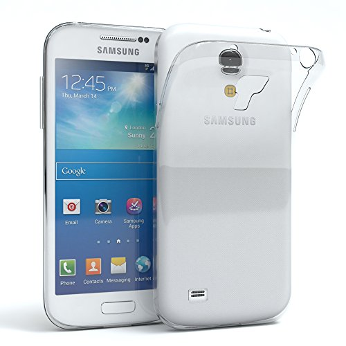 EAZY CASE Hülle kompatibel mit Samsung Galaxy S4 Mini Schutzhülle Silikon, Ultra dünn, Slimcover, Handyhülle, Silikonhülle, Backcover, Durchsichtig, Klar Transparent