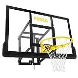 FORZA Tablero de Baloncesto Fijación en Pared | Canasta Interior o Exterior con Altura Ajustable | Canasta de Tamaño Oficial para Adultos y Niños | Basketball Hoop de Calidad Profesional