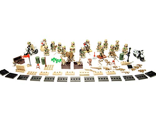 Action Bricks Military Army Minifigures Armors and Weapon Accessories   Special Forces Play Set of 16 Green Army Men Toys for Kids   Custom Building Blocks World War 2 Soldiers Figure Sets