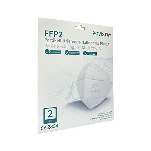 EasyCHEE Powstay PM01A Partikelfiltrierende FFP2 NR Schutzmaske, 2 St Umschlag