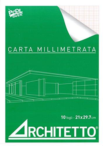 BLOCCO CARTA MILLIMETRATA A4 CM. 21X29,7 - 10 FOGLI