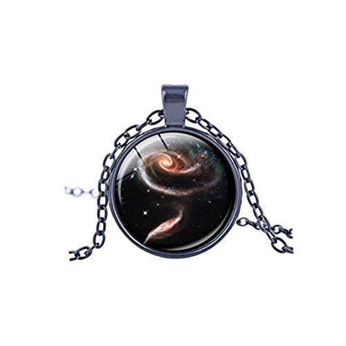 Youkeshan VDFR521 - Collar con colgante de galaxia, diseño de nebulosa, para hombre y mujer