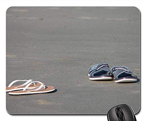 Alfombrilla para ratón - Zapatillas Chanclas de Playa Zapatillas Zapatillas Arena Playa Arena