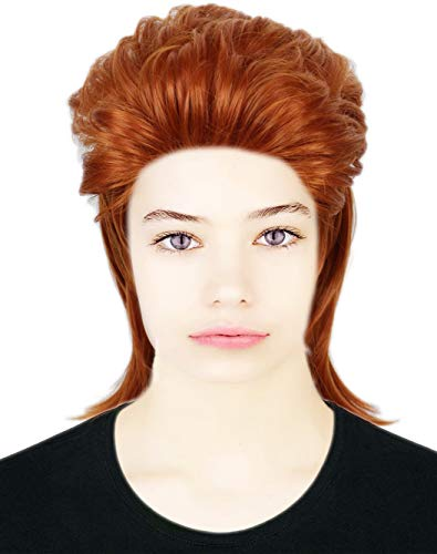Codeven 70s Rocker Style Hair Wigs Halloween Costume Cosplay Wig