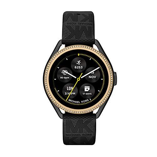 Michael Kors Women's MKGO Gen5e Silicone Touchscreen Smartwatch, Color: Black (Model: MKT5118)