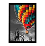 Golden State Art, 13x19 inch Poster Frame Black 1 Pack, Horizontal and Vertical Wall Display, with Plexiglass (13x19, Set of 1)