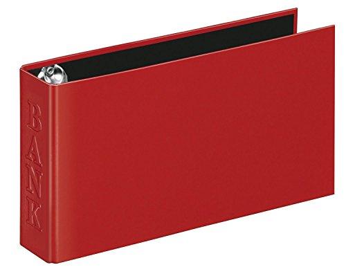Veloflex 4169221 Bankordner Classic A6 Ordner Ringbuch Bankauszugsordner, für Kontoauszüge, 250x140x45, rot