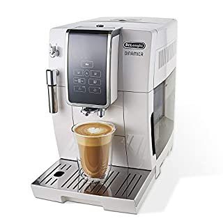 De'Longhi ECAM35020W Dinamica Automatic Coffee & Espresso Machine, TrueBrew (Iced-Coffee), Burr Grinder & Descaling Solution, Cleaning Brush & Bean Shaped Icecube Tray, White (B07RNMXG7G) | Amazon price tracker / tracking, Amazon price history charts, Amazon price watches, Amazon price drop alerts