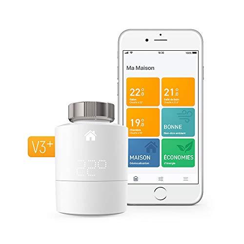 tado Tête Thermostatique Intelligente Kit de Démarrage V3+ - Contrôle intelligent du chauffage, fonctionne avec Amazon Alexa, Apple HomeKit, Assistant Google, IFTTT