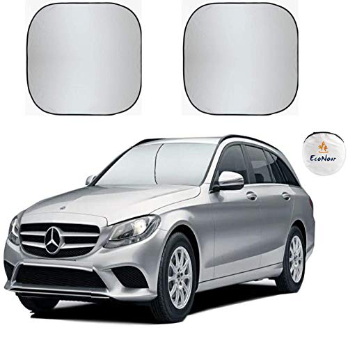 EcoNour Premium Car Windshield Sunshade with Easy Read Size Chart-Universal Fit for Car, SUV, Van,Truck-. 210T Nylon Material (Medium 28 x 31 inches (71 x 79 cm))