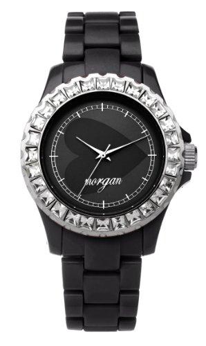 Morgan De TOI M1060B - Reloj analógico para Mujer de plástico Negro