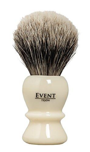 Event pennello da barba Tasso bianco con supporto, ø 24mm–1Confezione