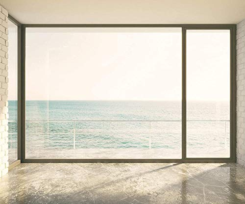Carta da parati fotografica Non tessuto Premium Stampa artistica Premium Murale Decorazione murale Poster Picture Design Modern Sea Window Nature-400x280cm