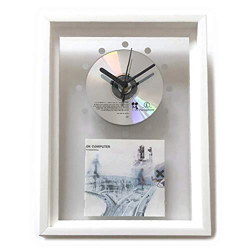 RADIOHEAD - OK Computer: GERAHMTE CD-WANDUHR/Exklusives Design