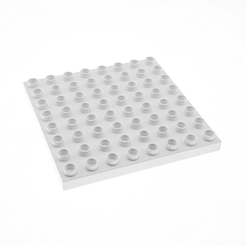 1 x Lego Duplo Bau Basic Platte weiss 8x8 Noppen 8 x 8 Schnee Polar Eis Zoo Puppenhaus 4960 4974 9226 51262