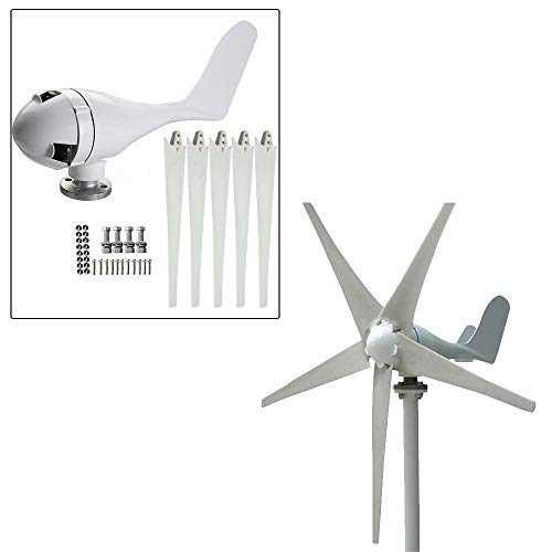 OUKANING Mini 400W 24V Wind Turbine Generator Micro Nylon Faser 5blades 1,4m Durchmesser Wind Power System Kits