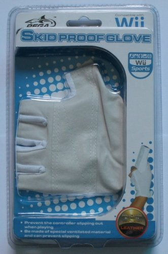 Cables4PC New Leather Skid Proof Glove For Nintendo Wii