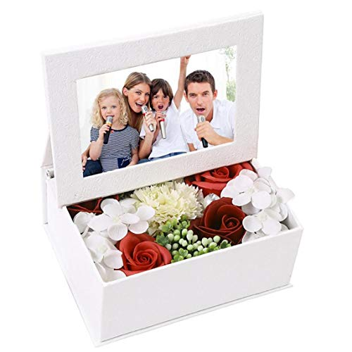 1PC Gift Boxes Soap Flower with Photo Albums Teacher's Christmas Gifts Romantic Wedding Gift White Photo Frames Red 6x4 inch