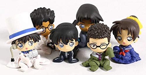 Detective CONAN Set Completo 6 Figure Chijimasetai Vol. 4 Personaggi Rimpiccioliti Shinichi Kudo Phantom Ran Gashapon