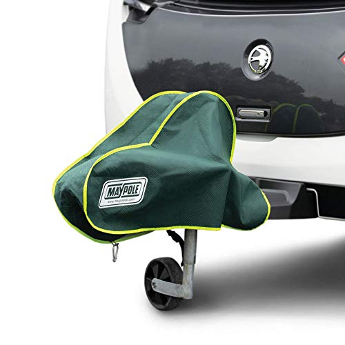 Maypole Premium 4-lagige atmungsaktive Wohnwagen-Abdeckung für große Anhängerkupplung, Grün