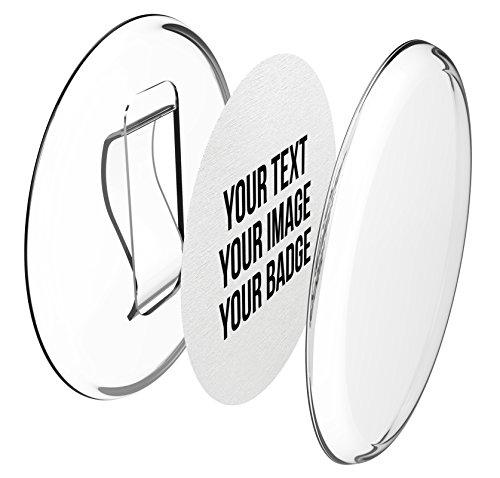 Clip-Buttons 56mm selber machen ohne Buttonmaschine (50 Stück) – Ansteckbuttons Set mit A4-Buttonpapier