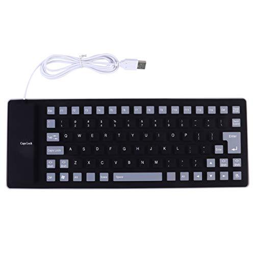 OSALADI 85 teclas Roll Up teclado de silicona resistente al agua teclado...
