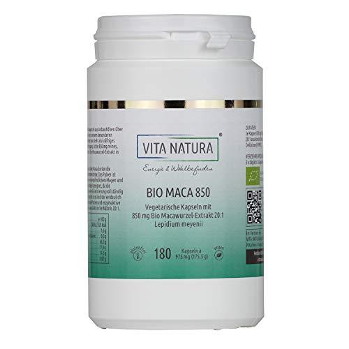 Vita Natura Maca Bio - Cápsulas veganas (850 mg, 1 x 180 unidades)