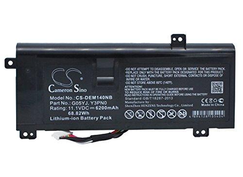 CS-DEM140NB Batería para portátil 6200mAh Compatible con [DELL] Alienware 14, Alienware 14(Mid...