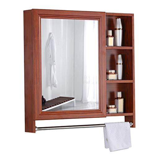 Armoires avec miroir Armoire de Toilette Space en Aluminium Miroir Mural pour Salle de Bain Miroir Mural avec étagères Miroir De Rasage pour Hommes Miroirs de Salle de Bain