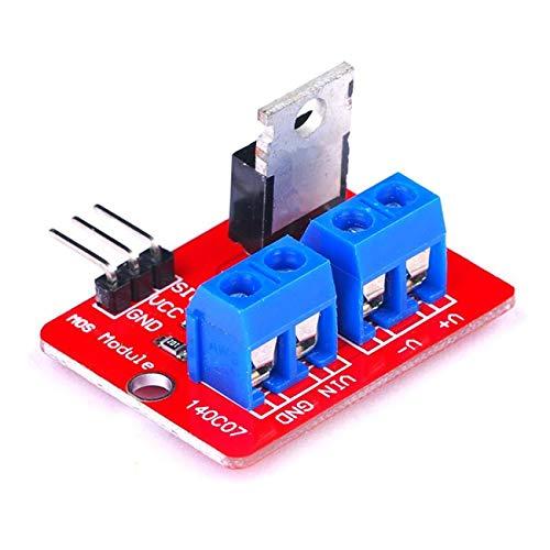 fengzong 0-24V Top Mosfet-Taste IRF520 MOS-Treibermodulplatine für Arduino MCU ARM Raspberry Pi Elektronisches DIY-Werkzeug Dimm-LED (rot & blau & rot & blau)