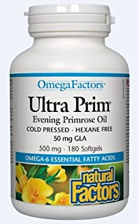 NATURAL FACTORS Ultra Prim 500 Mg, 180 Count