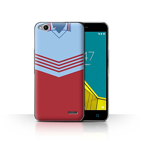 Telefoonhoesje/Cover/Skin/VD-CC/Retro Voetbal/Kit Divisie 1 Collectie Vodafone Smart Ultra 6 West Ham 1976