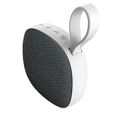 Altavoz de absorción magnética portátil mini inalámbrico impermeable IPX6 Bluetooth compatible 5.0 altavoz al aire libre gris