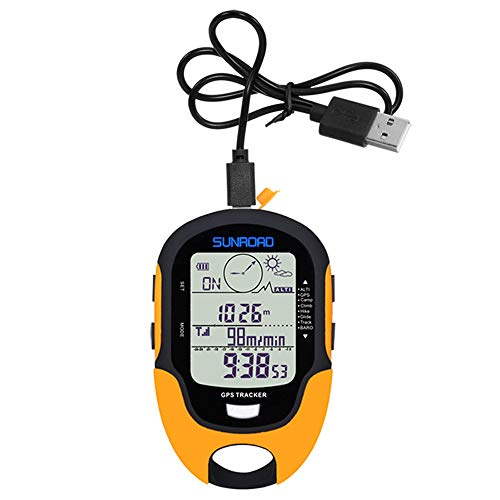 Walory Höhenmesser | Multifunktions LCD Digital GPS Höhenmesser Barometer Kompass Tragbare Outdoor Camping Wandern Klettern Höhenmesser mit Led-Taschenlampe