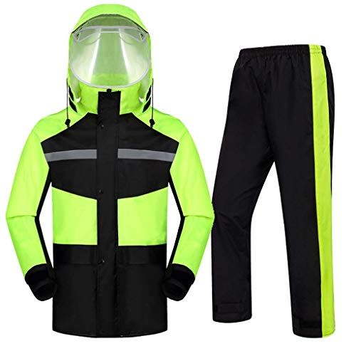 SH-jiake Raincoat Set Anzug Motorrad Regenmantel Outdoor Sports Regen Suits Breath Regen Jacke Wandern Split-Regenkleidung for Autofahren Angel Jogging Rudern Rainy Days (Color : A, Size : XL)