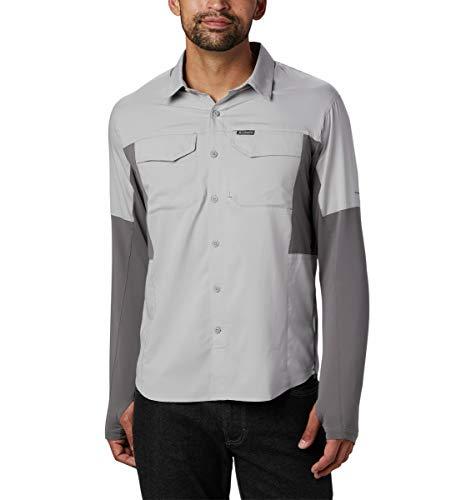Columbia Men's Silver Ridge Lite Hybrid Shirt, Columbia Grey/City Grey, Large