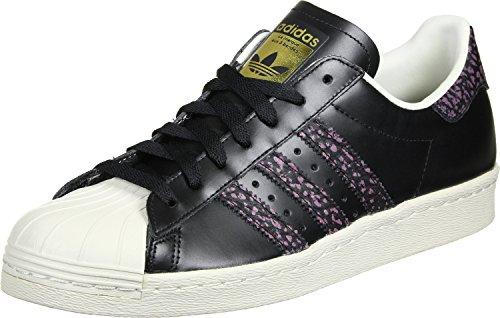 Adidas - Superstar 80S - S75846 - Kleur: Wit-Zwart-Paars - Maat: 36 2/3 EU